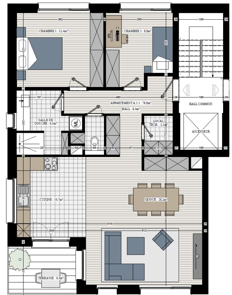 Appartement - Rebecq Quenast - #3632729-2