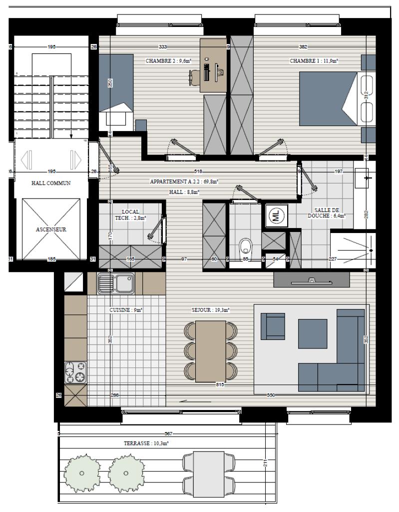Appartement - Rebecq Quenast - #3632750-2